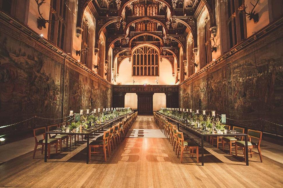 Dining hall at Hampton Court Palace