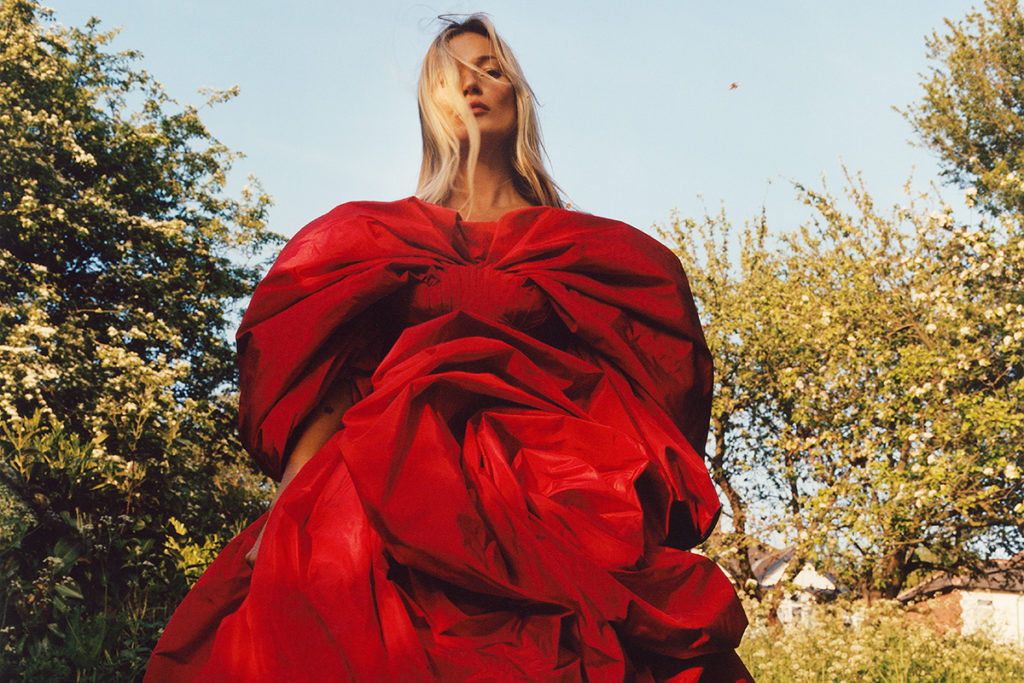Kate Moss in Roses dress by Alexander McQueen.