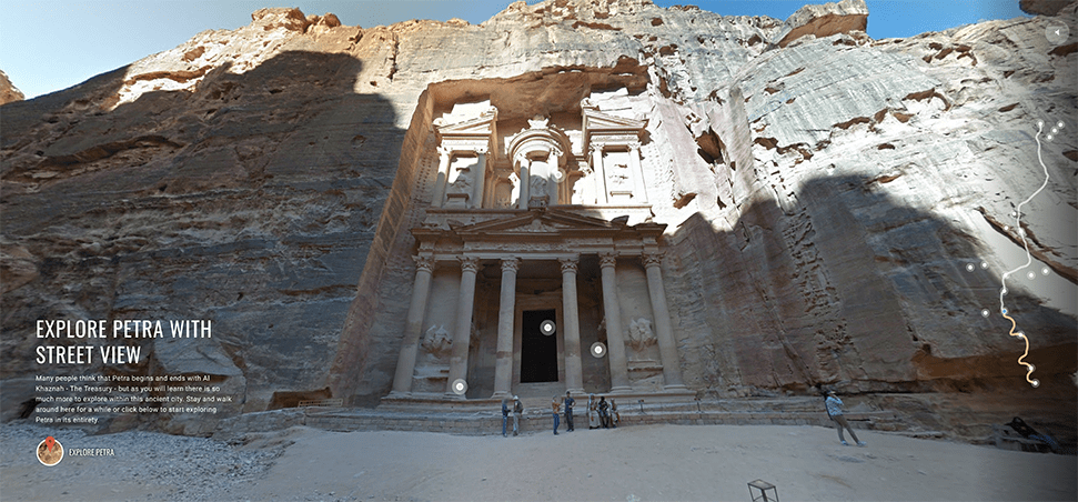 Explore Petra on Google maps