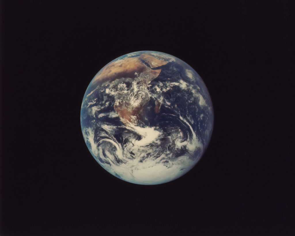 A photo of planet earth from the New York Public Library