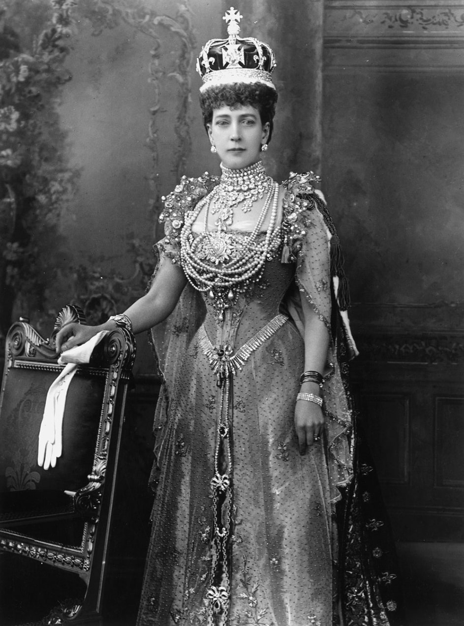 Queen Alexandra at the coronation of her husband Edward VII