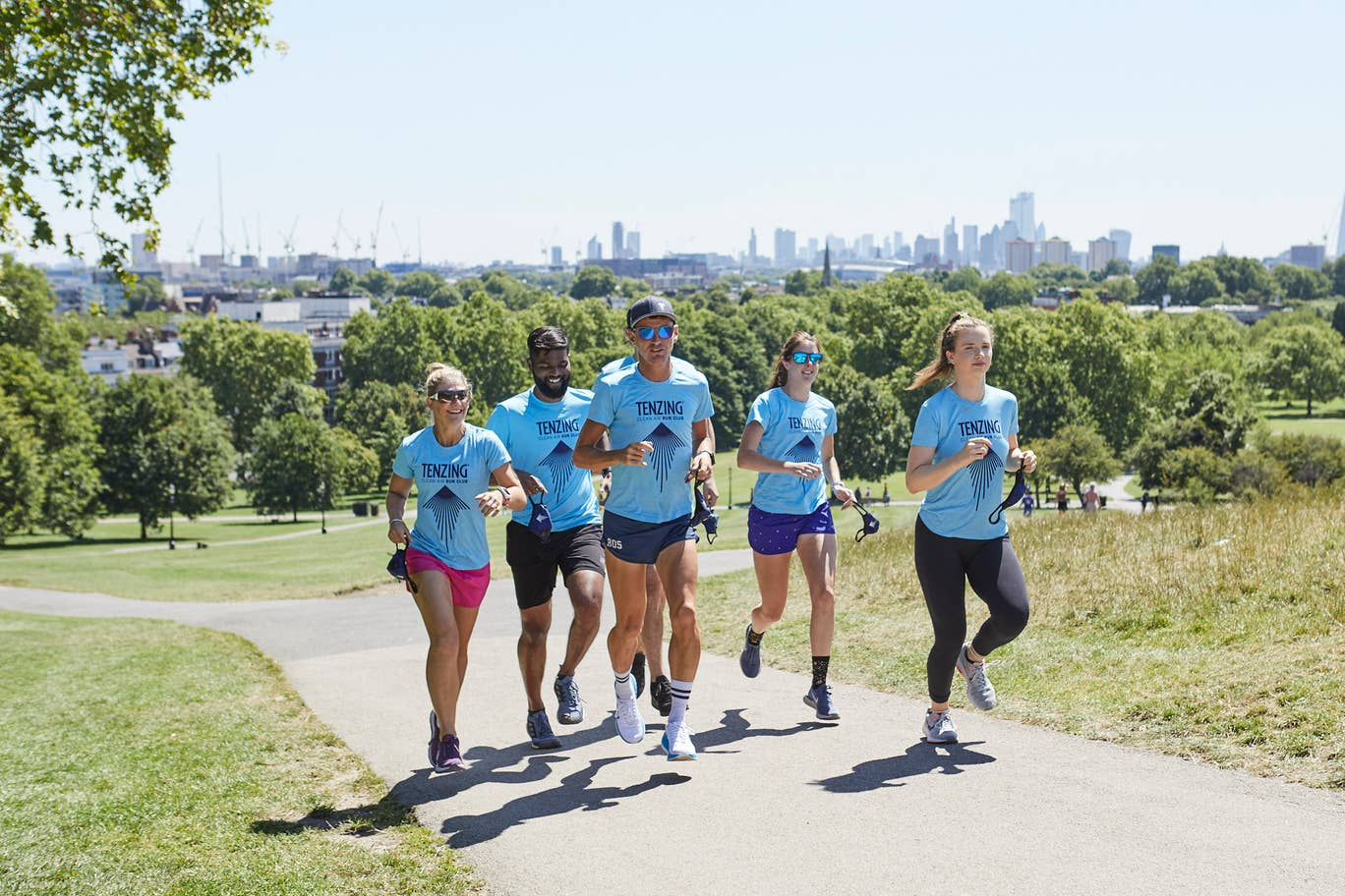 Runners taking part in Run for Clean Air Day, as part of Earth Day 2020