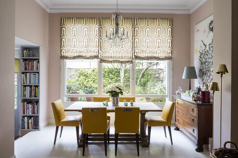 Rita Konig's dining room