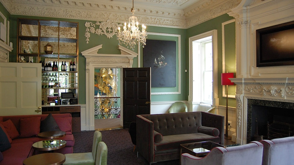 One of the rooms at the House of St Barnabas club in London