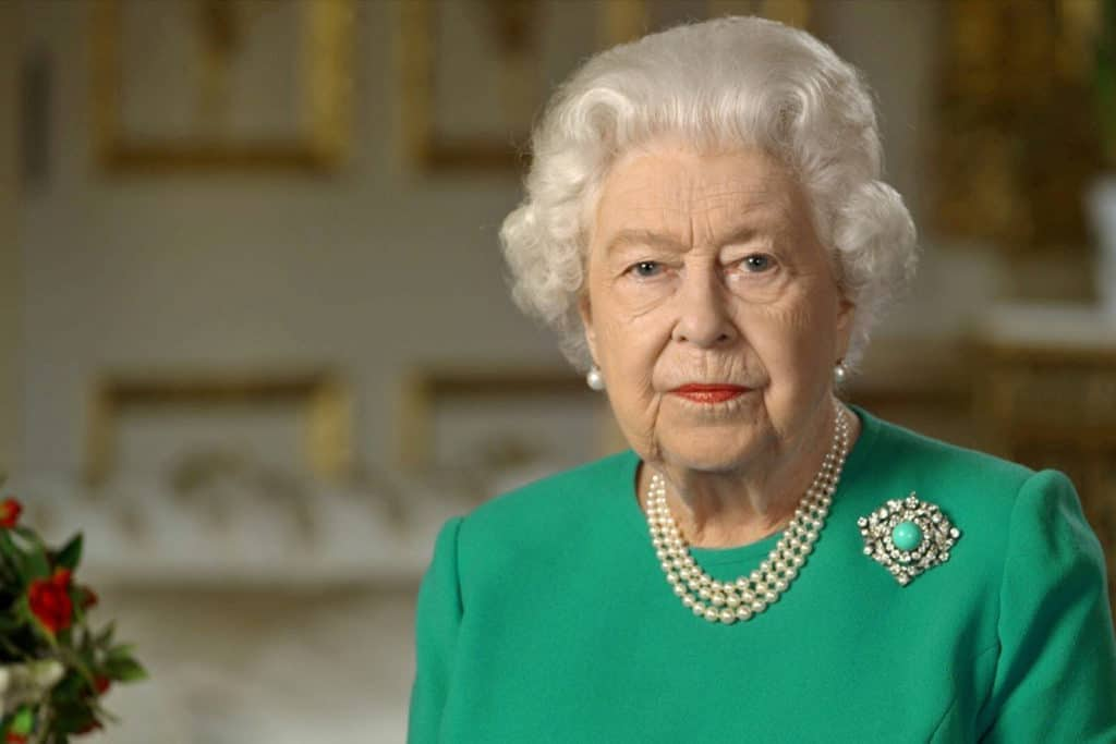 The Queen during her speech to the nation amidst the Coronavirus pandemic