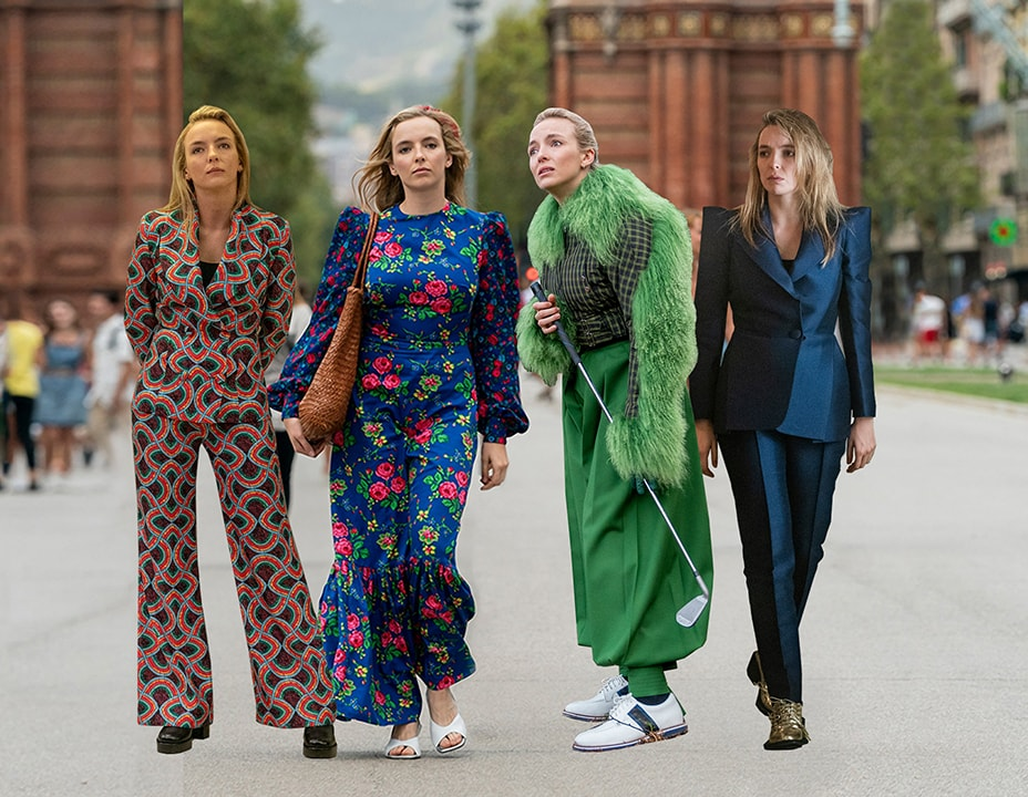 Killing Eve's Jodie Comer wearing a Vampire's Wife dress