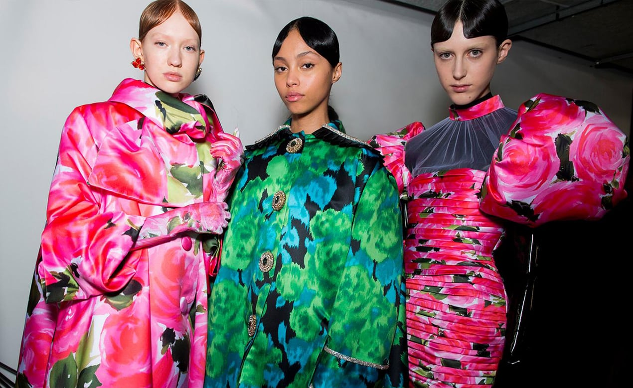 Richard Quinn's show from London Fashion Week