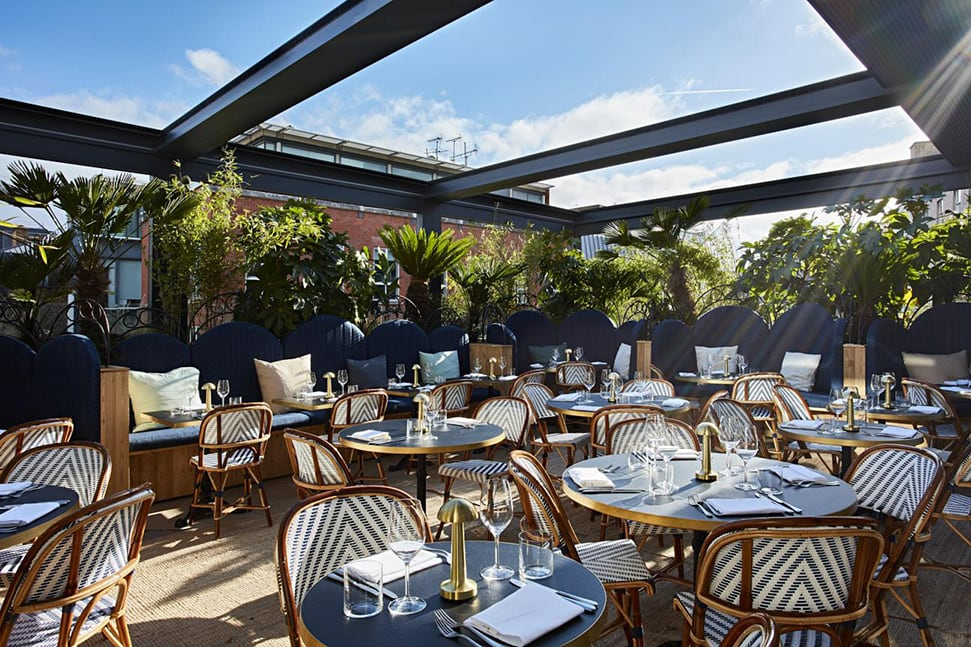 The roof terrace at The Conduit members club in London
