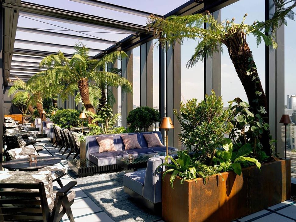 A terrace at White City House in London