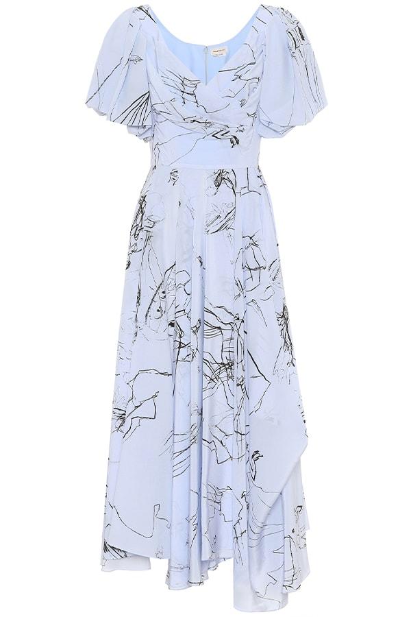 Alexander McQueen blue dress, as part of The Glossary's best summer dresses edit