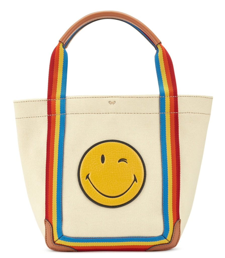 Anya Hindmarch stripe tote bag