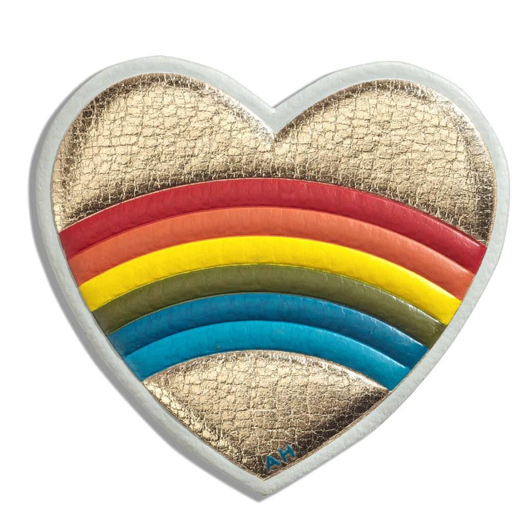 Anya Hindmarch rainbow heart sticker
