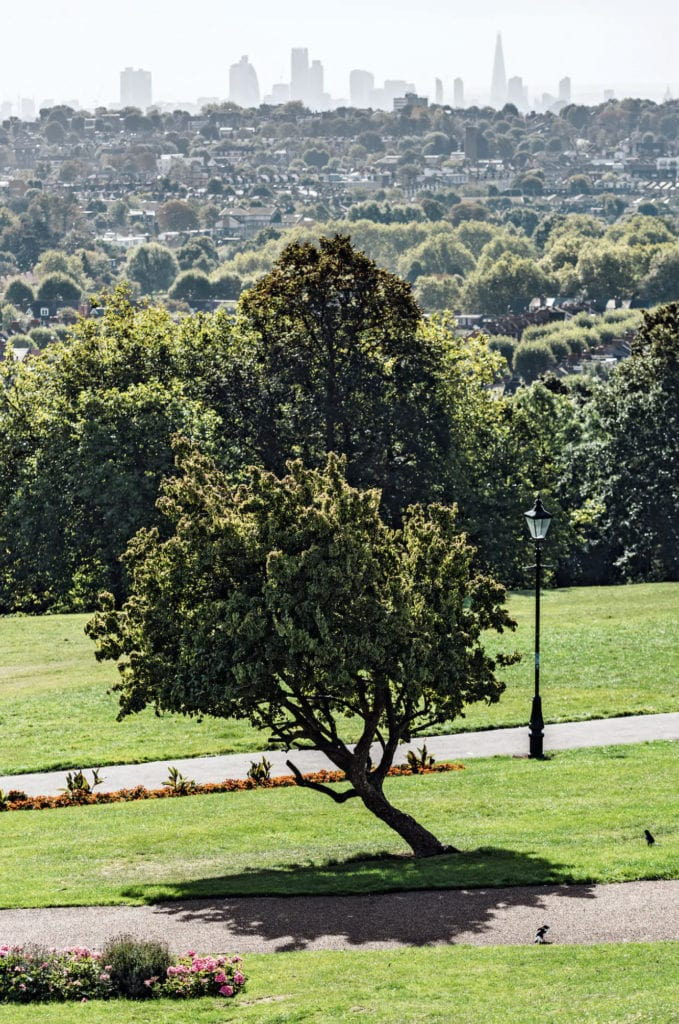 The view over the city from Alexandra Palace Park and Gardens