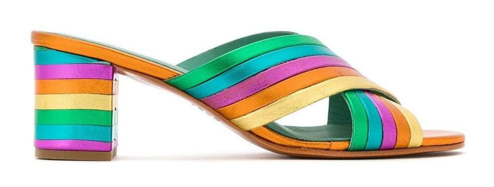 Blue Bird Shoes metallic mules
