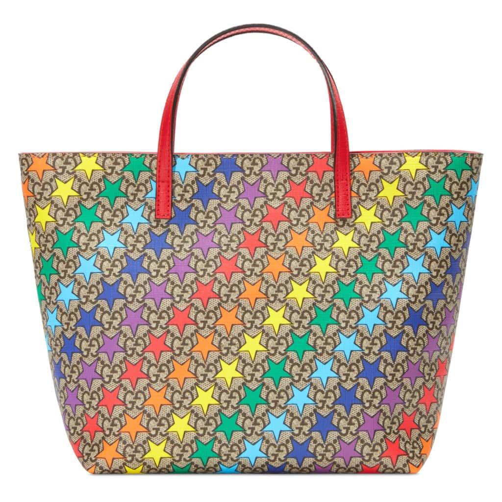 Gucci rainbow star tote bag