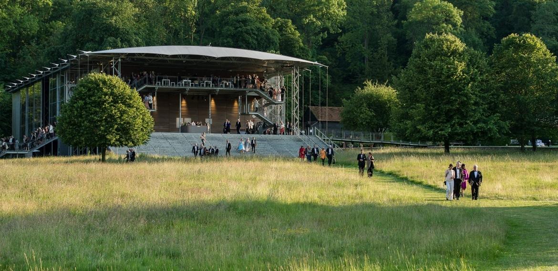 The grounds at the Garsington Opera Festival