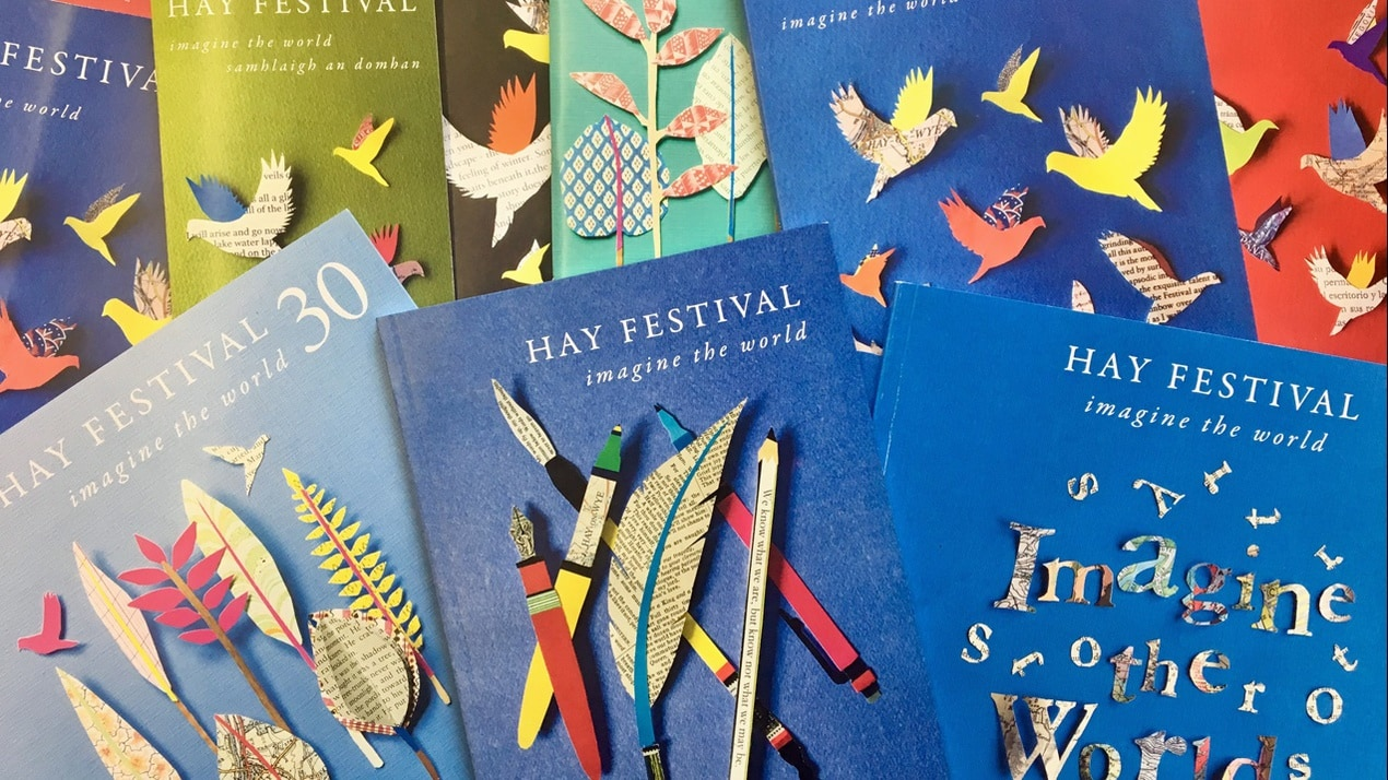 Flyers from the Hay Festival, which this year is going virtual