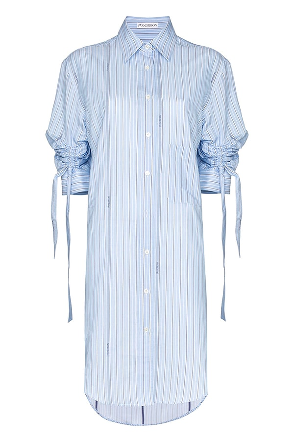 JW Anderson Pinstriped Buttoned Shirt Dress