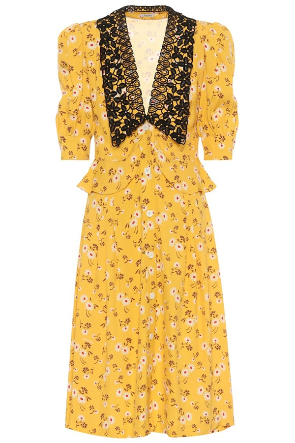 Miu Miu yellow dress, as part of The Glossary's best summer dresses edit