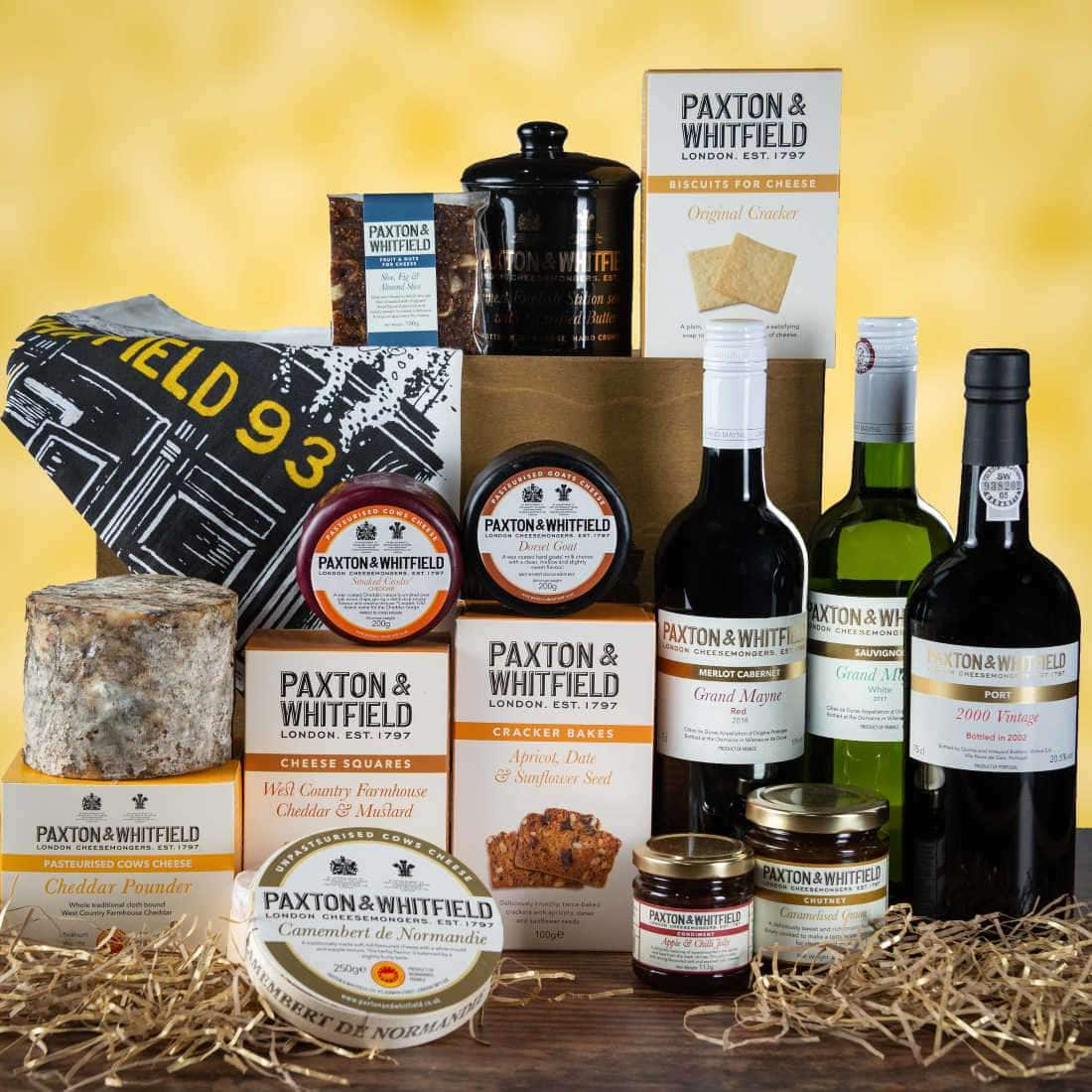 Paxton & Whitfield's The Kensington Cheese and Wine Picnic Hamper