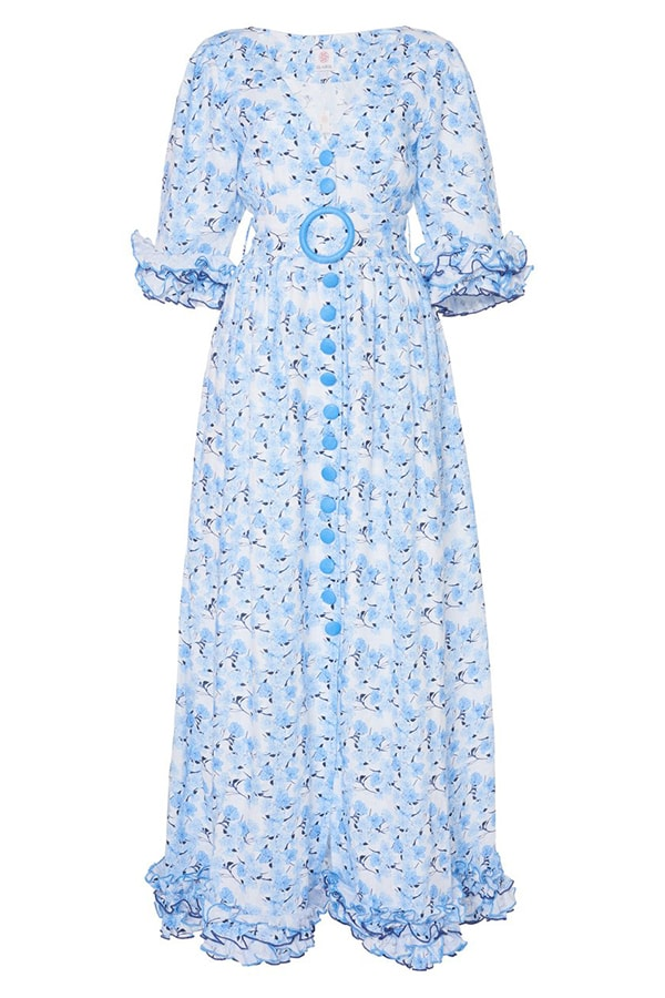 The Dress Edit: The 45 best summer dresses to buy now and wear all season gul hurgel floral belted ruffled floral print linen maxi dress