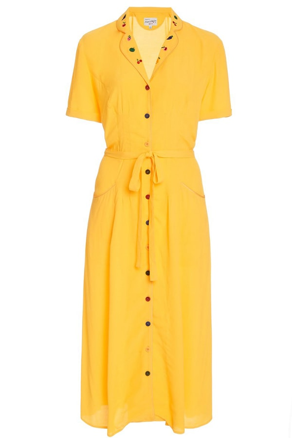 HVN yellow dress, as part of The Glossary's best summer dresses edit