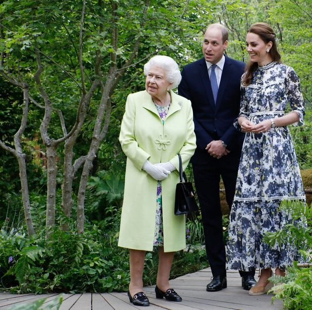 The Queen and Prince William and Kate visit the Chelsea Flower Show in 2019