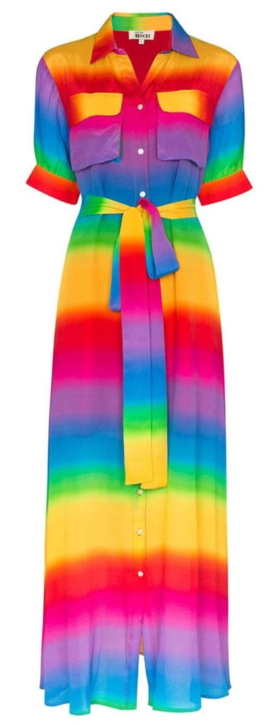 All Things Moochi rainbow stripe maxi dress