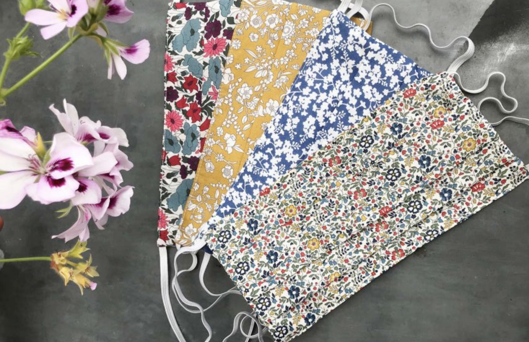 Brora Liberty print cotton face coverings