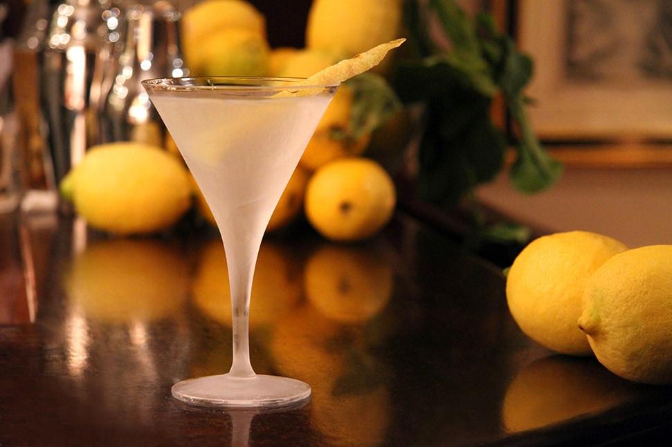 A Classic Martini at Dukes bar