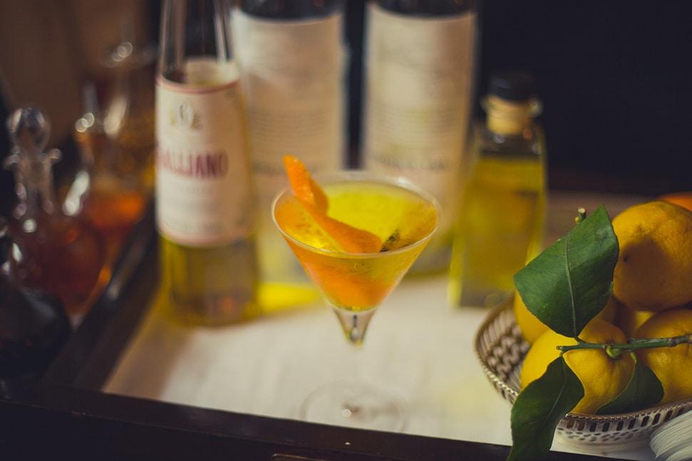 An Oddjob Martini at Dukes bar