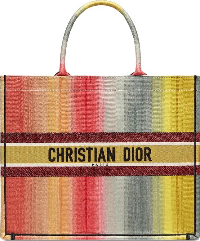 Christian Dior rainbow tote bag