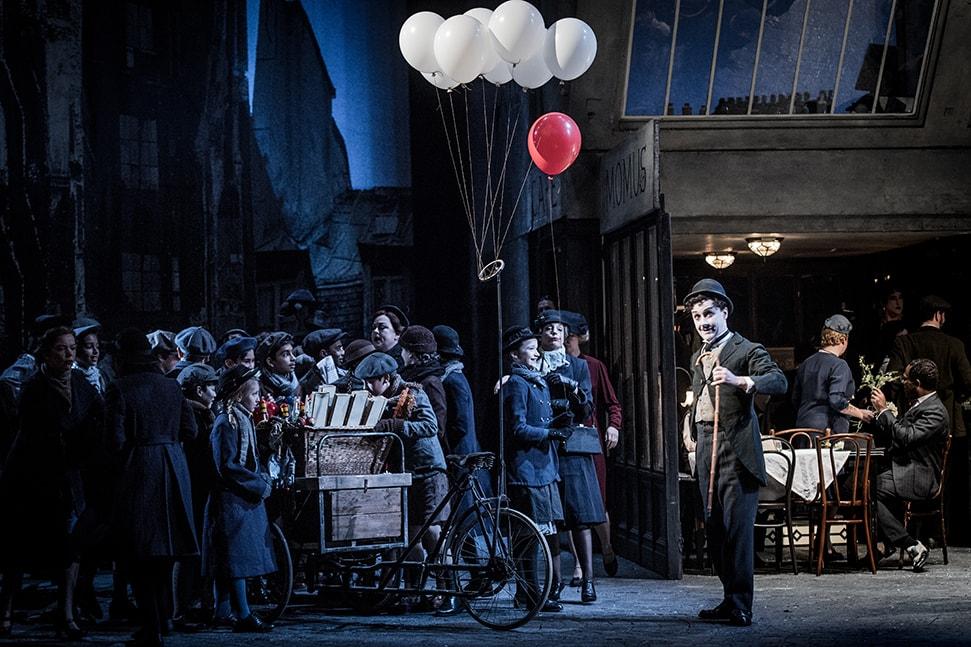 ENO drive in opera showing La Boheme