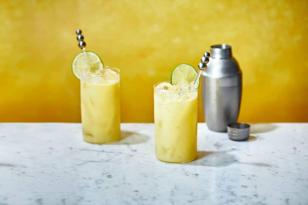 Lemon Drizzle Sling cocktail