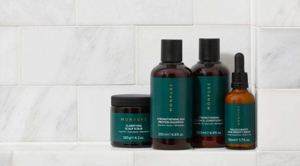 Monpure's luxury range of scalp care products