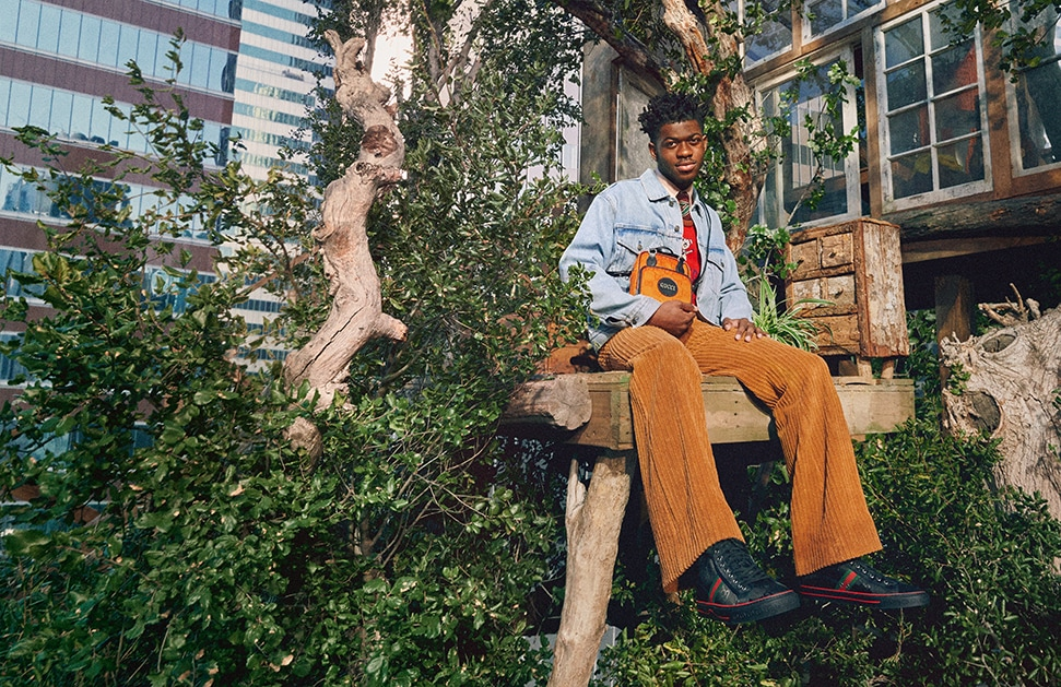 Rapper Lil Nas X stars in the new Gucci Off The Grid collection campaign