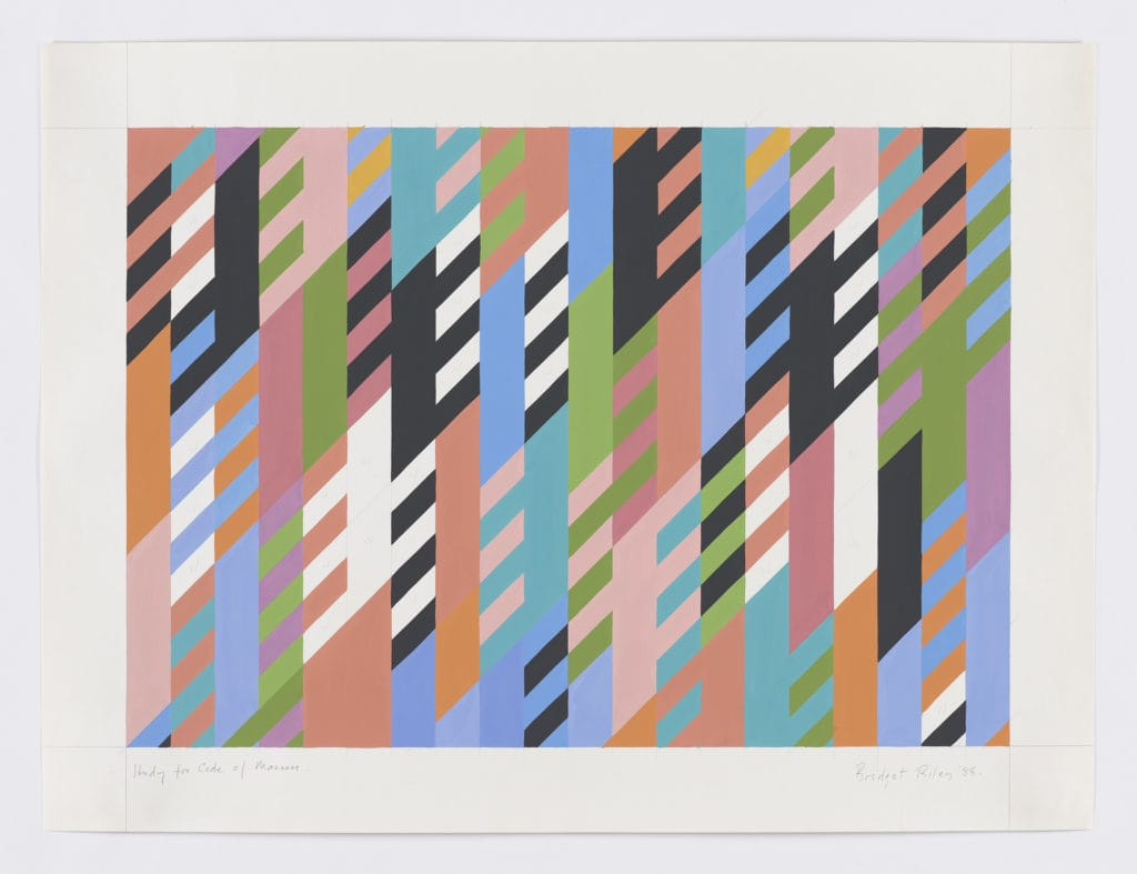 Bridget Riley art exhibition at the David Zwirner Gallery