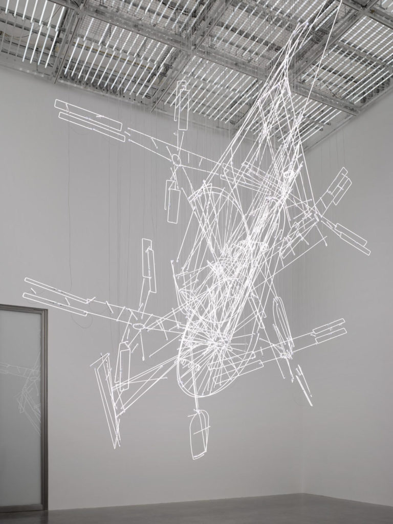 Cerith Wyn Evans art exhibition at the White Cube Gallery