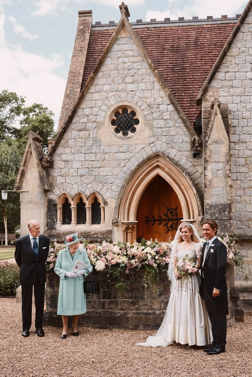 Princess Beatrice chose a vintage Norman Hartnell dress for her intimate Royal Wedding