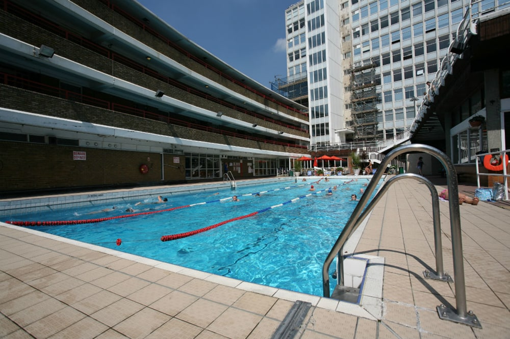 Oasis Rooftop Pool, one of the best outdoor swimming pools in London
