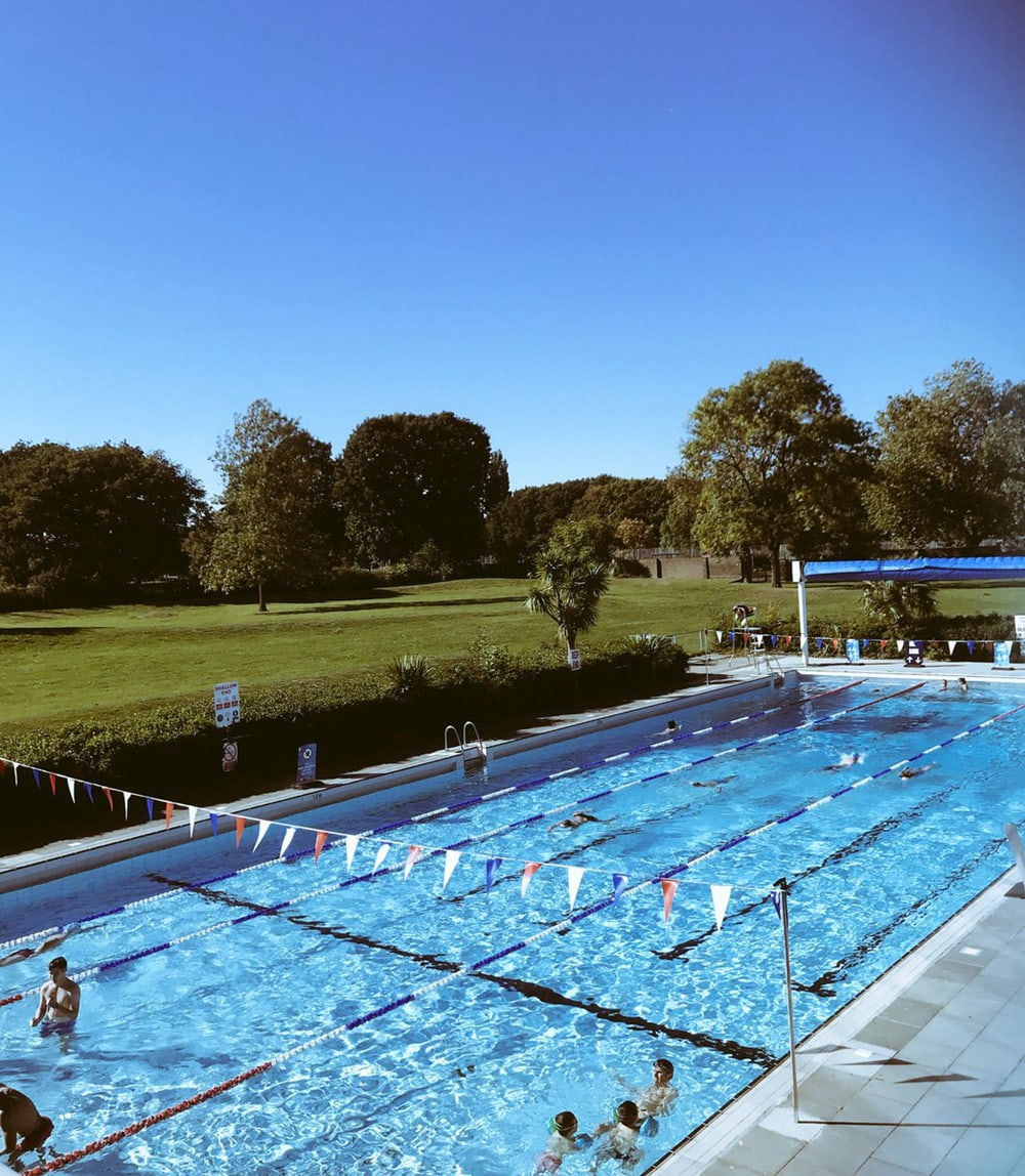 Pools on the Park, one of the best outdoor swimming pools in London
