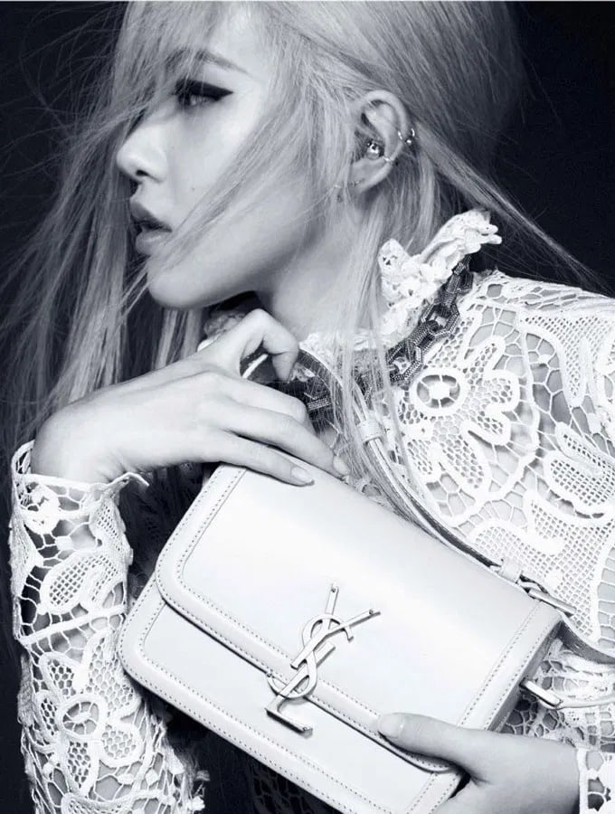 Rose starring in Saint Laurent's Blackpink Fall 2020 Campaign