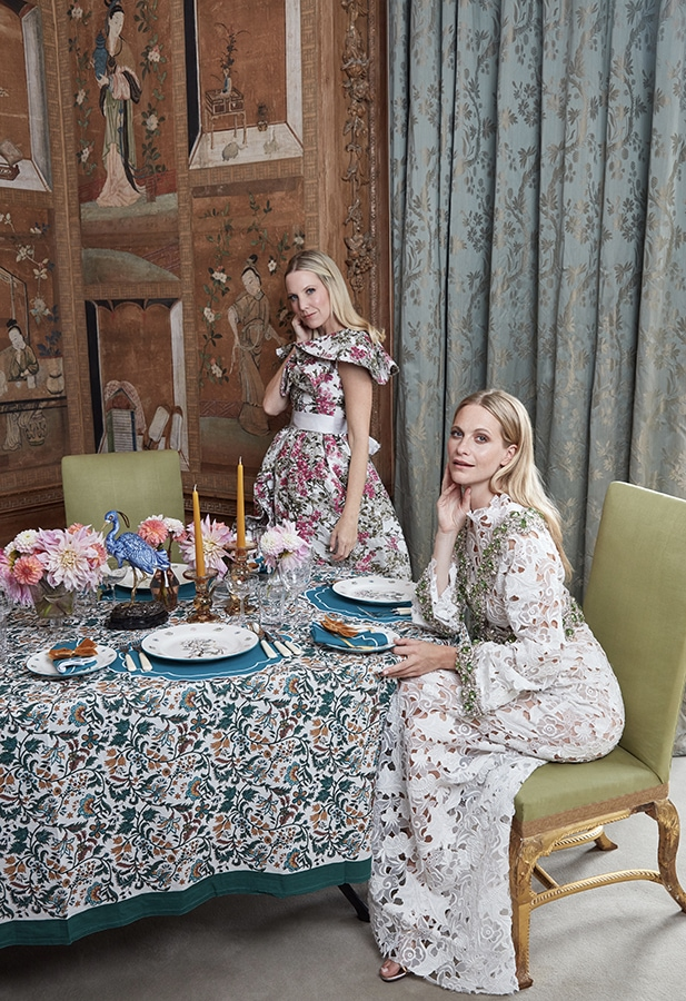 Tablescaping expert Alice Naylor-Leyland launches her first collaboration with Poppy Delevingne