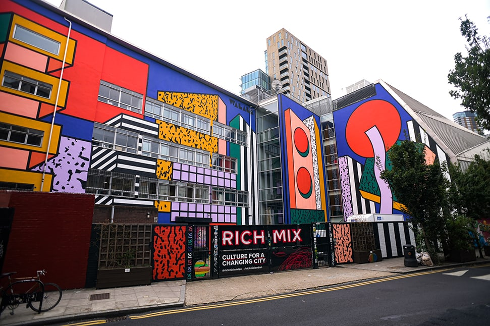 Camille Walala London Mural Festival Rich Mix Redchurch Street E1 6LA