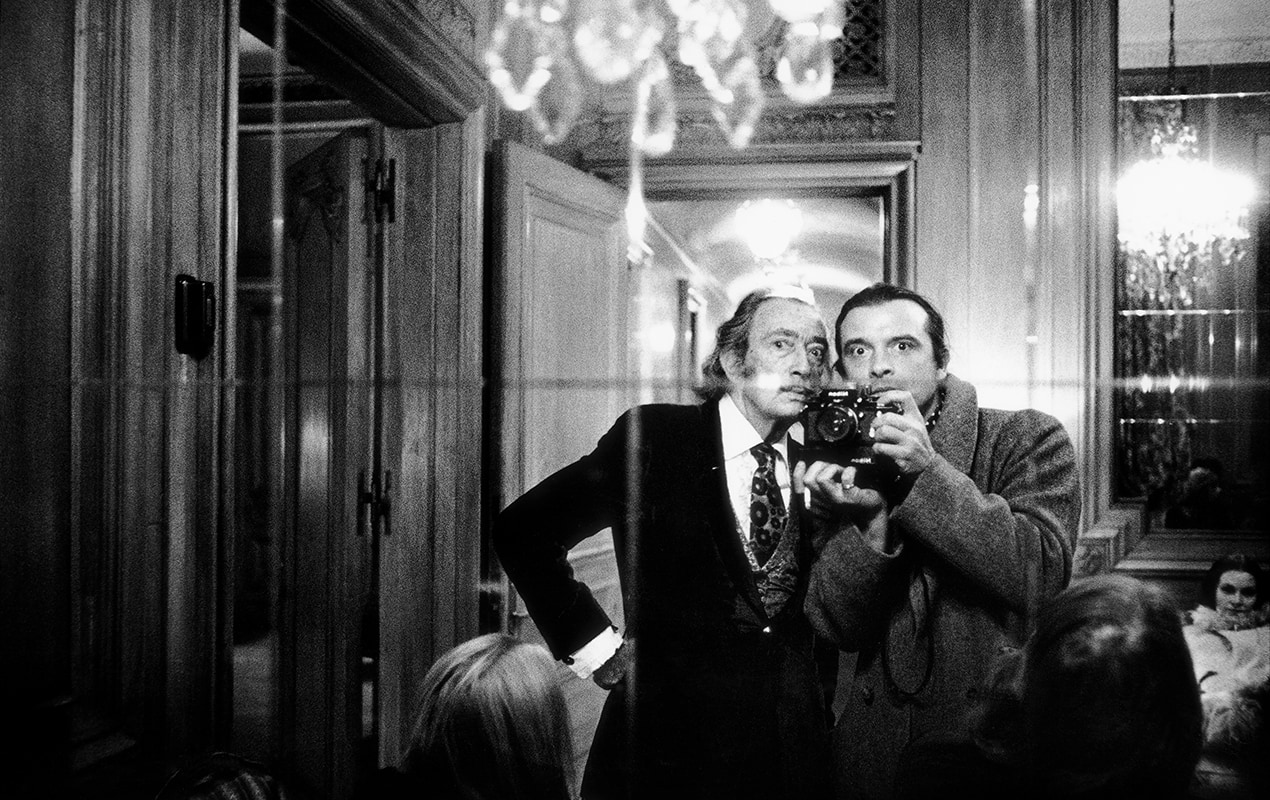 Salvador Dali and David Bailey 1972 © David Bailey