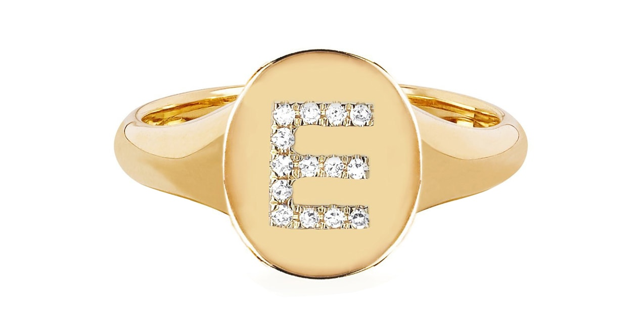 EF Collection 14K Gold Oval Signet Ring