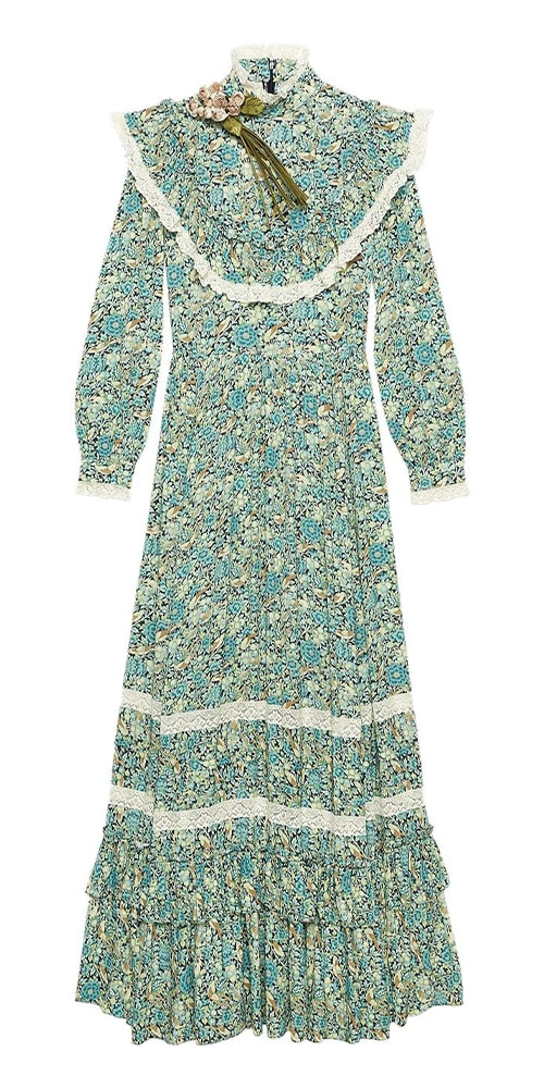 Gucci Liberty floral print maxi dress 3100 FAR