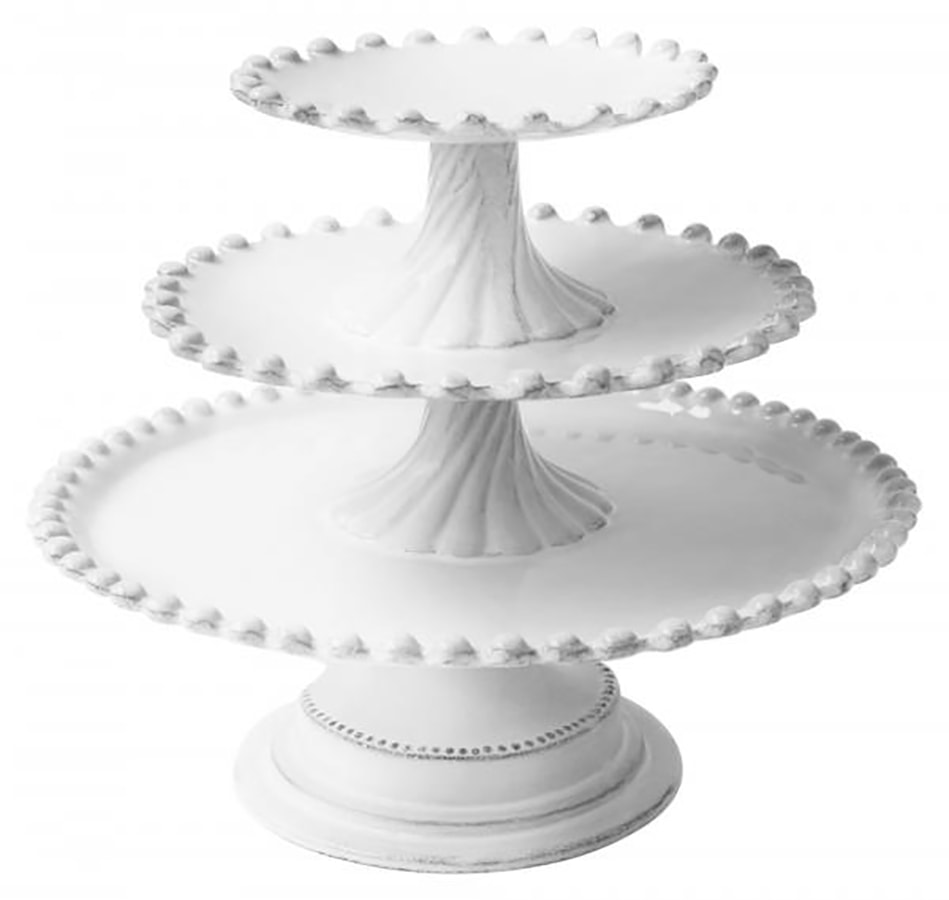 Interior designer Sophie Conran's top tips on how to style your home for winter Astier de Villate Adeliade Three Level Cake Stand