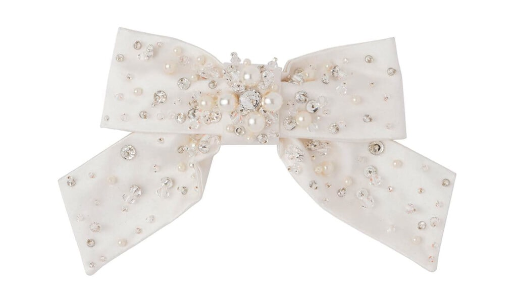 Miu Miu embellished bow hair clip 335 FAR