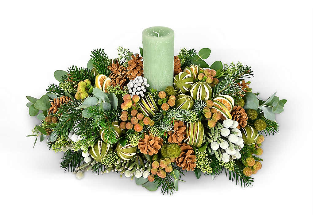 Moyses Stevens The Green and Silver table decoration